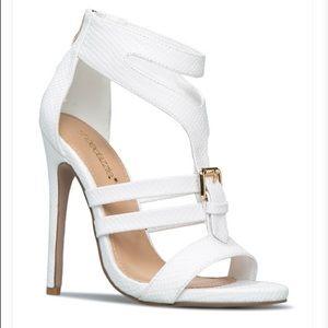 White Teigan Strappy Heeled Sandal Size 8, NIB
